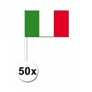 Zwaaivlaggetjes italie 50 stuks