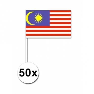Zwaaivlaggetjes maleisie 50 stuks