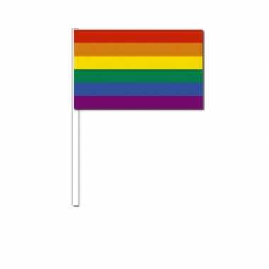 Zwaaivlaggetjes met regenboog
