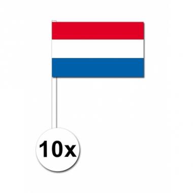 Zwaaivlaggetjes nederland 10 stuks