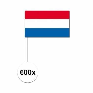 Zwaaivlaggetjes nederland 600 stuks