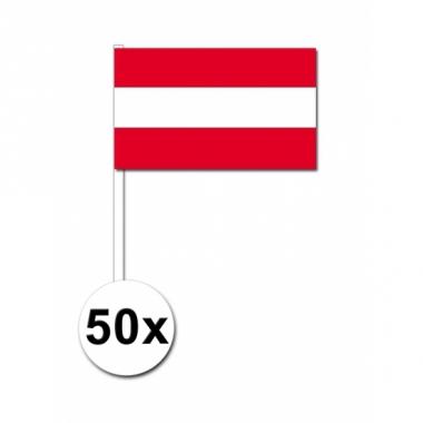 Zwaaivlaggetjes oostenrijk 50 stuks