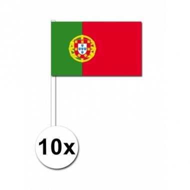 Zwaaivlaggetjes portugal 10 stuks