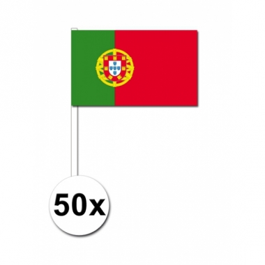 Zwaaivlaggetjes portugal 50 stuks