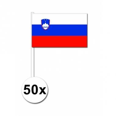 Zwaaivlaggetjes slovenie 50 stuks