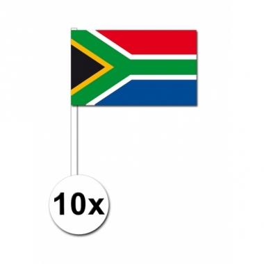 Zwaaivlaggetjes zuid afrika 10 stuks