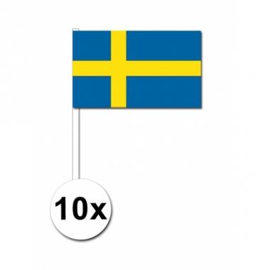 Zwaaivlaggetjes zweden 10 stuks