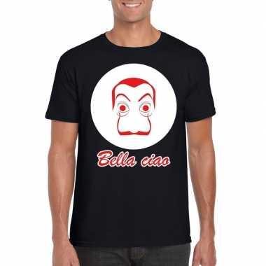 Zwart bankovervaller t-shirt voor heren