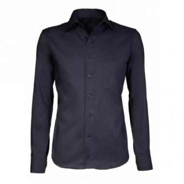 Zwart business overhemd voor heren