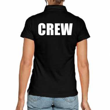 Zwart crew polo t-shirt voor dames
