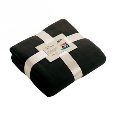 Zwart fleece deken