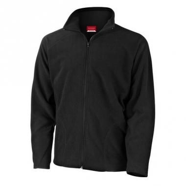 Zwart fleece vest met ritskraag