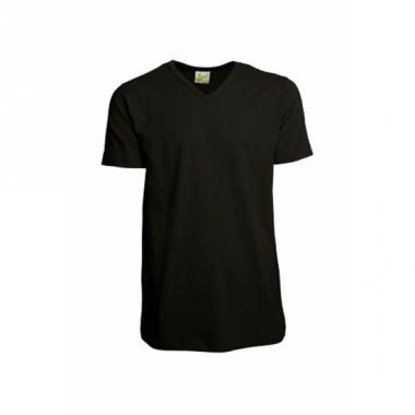 Zwart gekleurd v-hals shirt voor heren