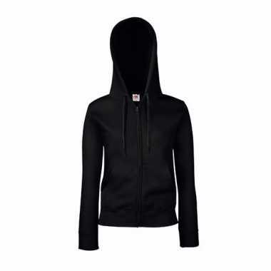 Zwart getailleerd vest voor dames