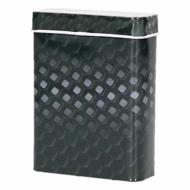Zwart/grijze metalen sigaretten blikjes