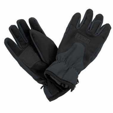 Zwart/grijze ski handschoenen voor volwassenen