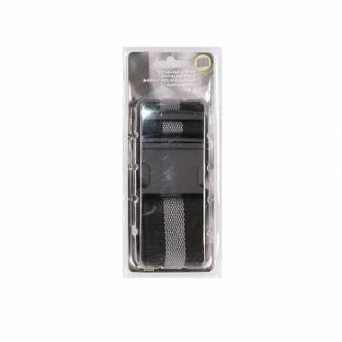 Zwart/grijze verstelbare bagageband verstelbaar