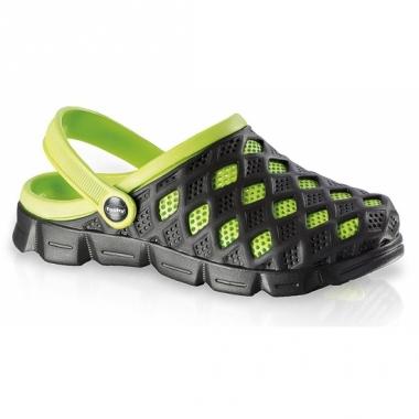 Zwart/groene dames zwemschoenen