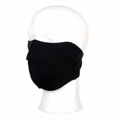 Zwart helm biker masker voor volwassennen
