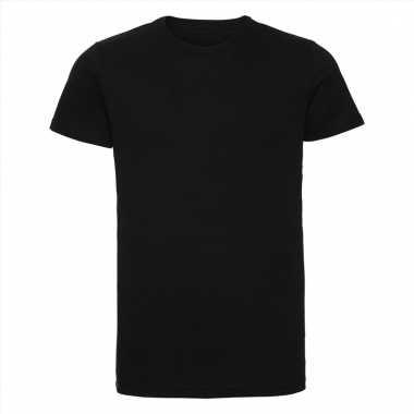 Zwart heren t-shirts met ronde hals