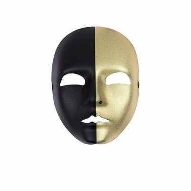 Zwart met gouden masker