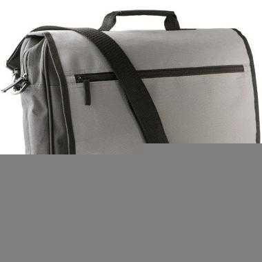 Zwart met grijze documenten tas