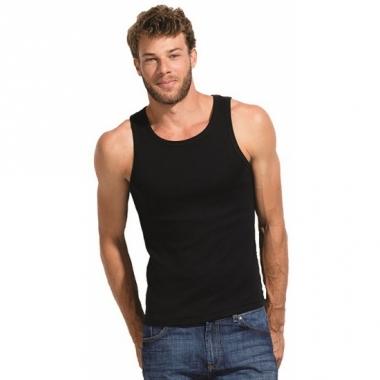 Zwart mouwloos shirt voor heren