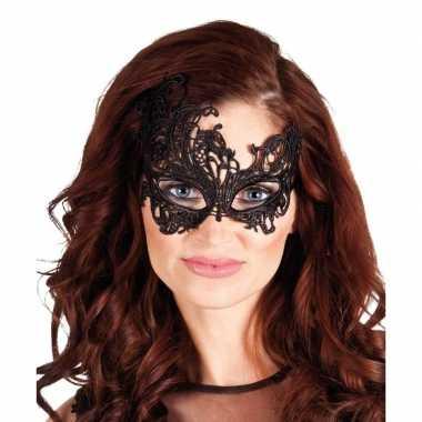 Zwart mysterieus oogmasker voor dames