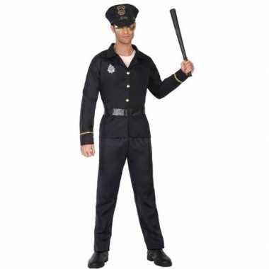 Zwart politie kostuum voor volwassenen