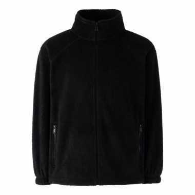 Zwart polyester fleece vest met rits voor jongens