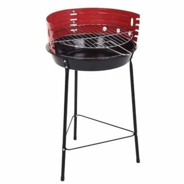 Zwart/rode half open barbecue