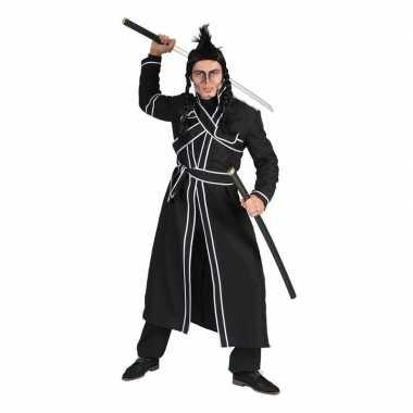 Zwart samurai verkleed kostuum voor heren