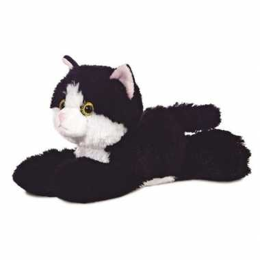 Zwart/witte kat knuffels 20 cm knuffeldieren