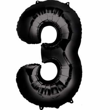 Zwarte ballon 3 jaar