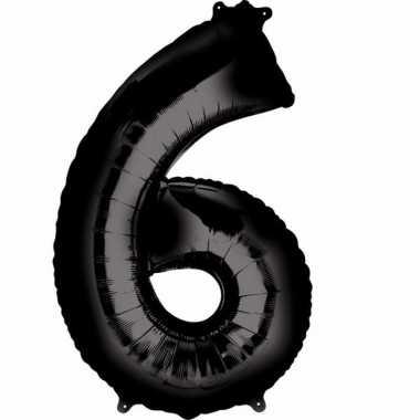Zwarte ballon 6 jaar