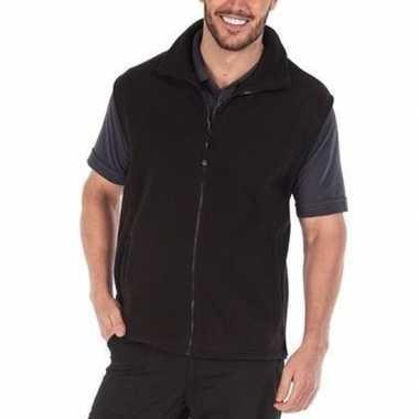 Zwarte fleece bodywarmer werkkleding voor volwassenen