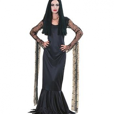 Zwarte morticia jurk dames