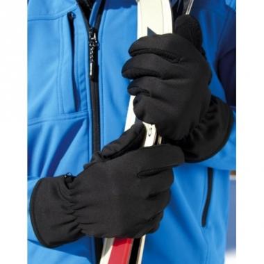 Zwarte polyester handschoenen