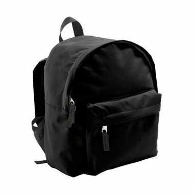 Zwarte rugzak voor kinderen 9 liter