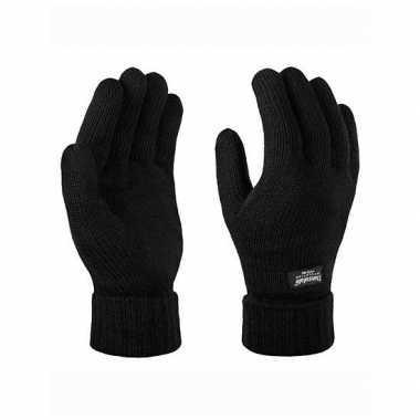 Zwarte thinsulate winter handschoenen
