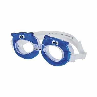 Zwembrillen nijlpaard blauw voor kinderen