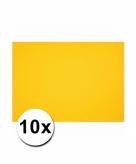 10 gele kartonnen vellen a4