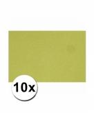 10 groene kartonnen vellen a4