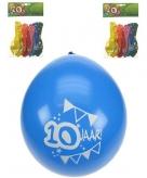 10 jaar ballonnen verjaardag 8 st