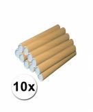 10 knutsel kokers van karton 43x6 cm
