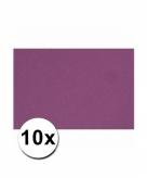 10 paarse kartonnen vellen a4