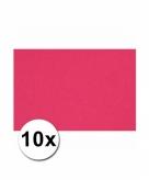10 roze kartonnen vellen a4
