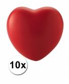 10 stressballetjes in de vorm van een hartje