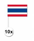 10 stuks zwaaivlaggetjes thailand