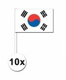 10 stuks zwaaivlaggetjes zuid korea